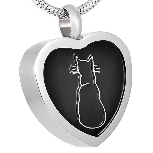 J-07 - Heart Cat Necklace
