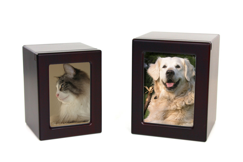 Wooden Photo Urns